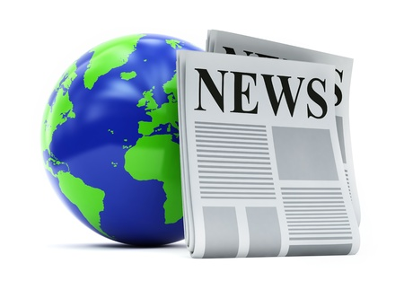 world and newspapers Stock Photo - 9590583