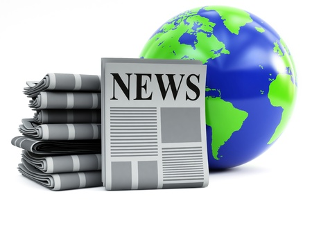 world and newspapers Stock Photo - 9590750