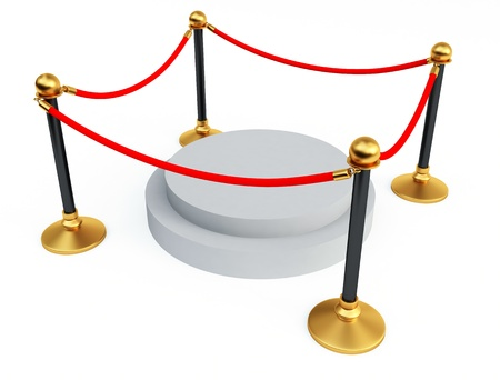 Gold stanchions Stock Photo - 9640024