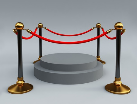 stanchion: Gold stanchions Stock Photo