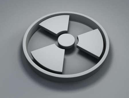 gamma radiation: Radioactivity symbol Stock Photo