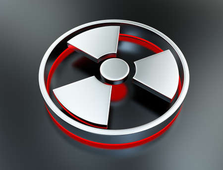 radioactivity: Radioactivity symbol Stock Photo