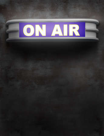 on air sign: ON AIR sign Stock Photo