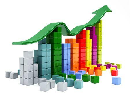 financial management: business graph Stock Photo