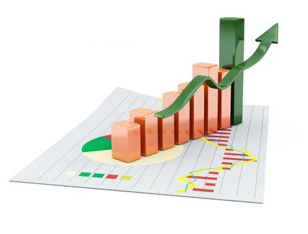 3d business chart photo