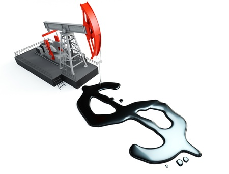 pump jack with dollar signs Stock Photo - 9685641