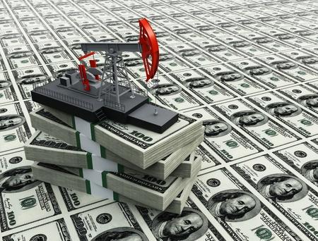 puits de petrole: Pompe � huile et en dollars