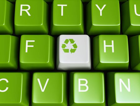 Green recycling keyboard photo