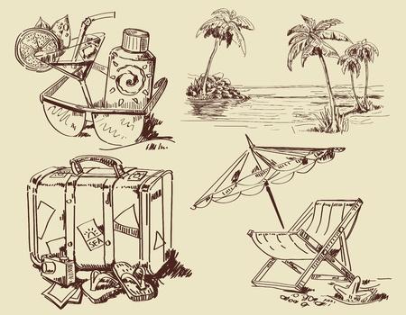 seestern: Sommer-Lounge Doodles