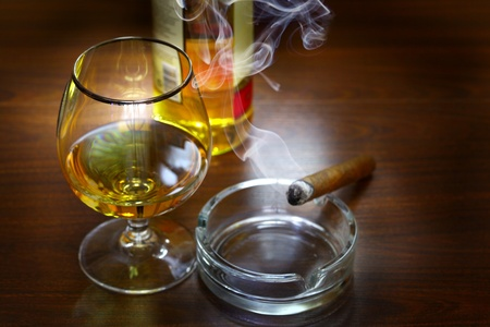 Cigar And Cognac Stock Photo - 9994599
