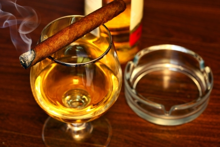 Cigar And Cognac Stock Photo - 9994604