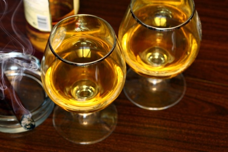 Cigar And Cognac Stock Photo - 9994596