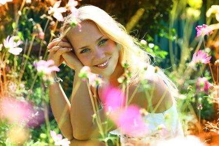 Young beautiful girl enjoying photo