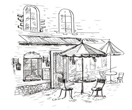 schets: Straat café