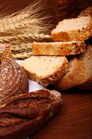 bread assortment background photo
