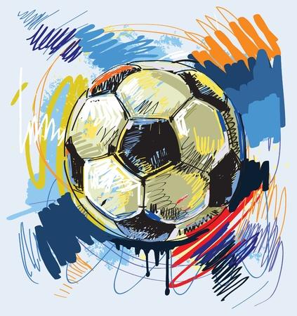 arte moderno: F�tbol Vectores