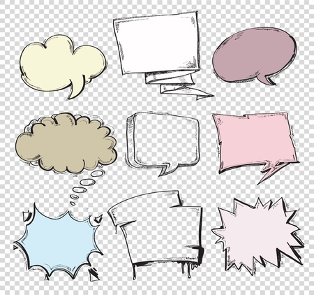 set of comic accent shapes