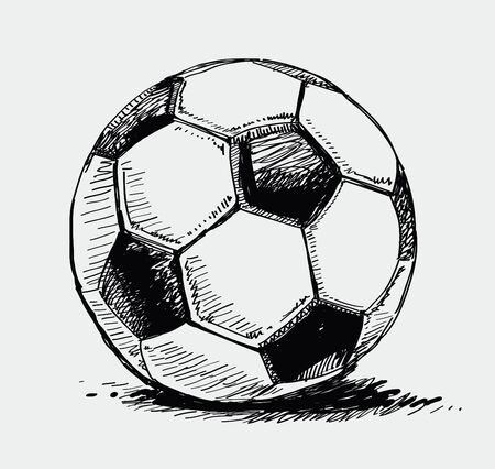 futbol soccer dibujos: Bal�n de f�tbol Vectores
