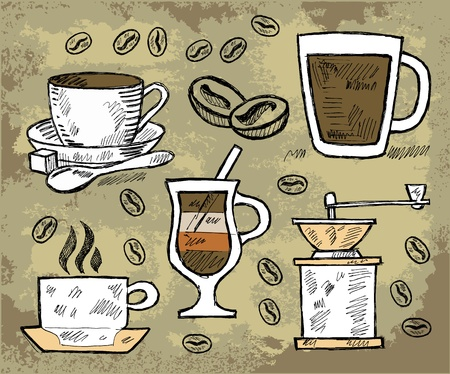 chai: freehand stroke illustration Illustration
