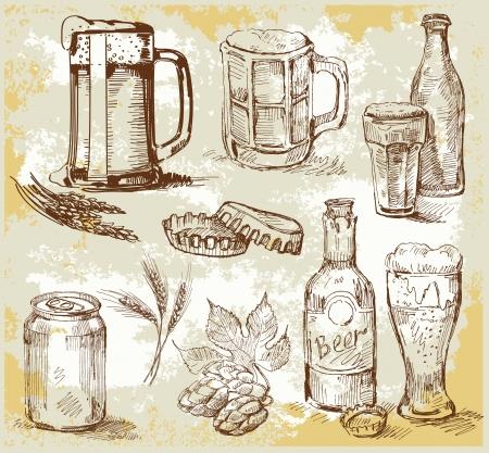 cerveza: cerveza conjunto Vectores