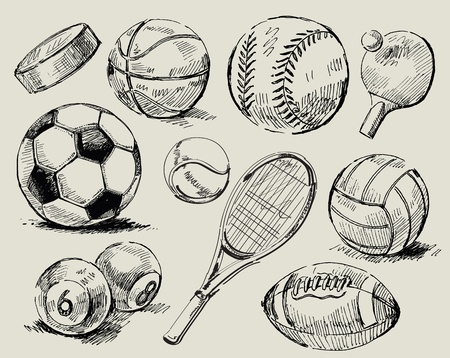 sport balls: sport background