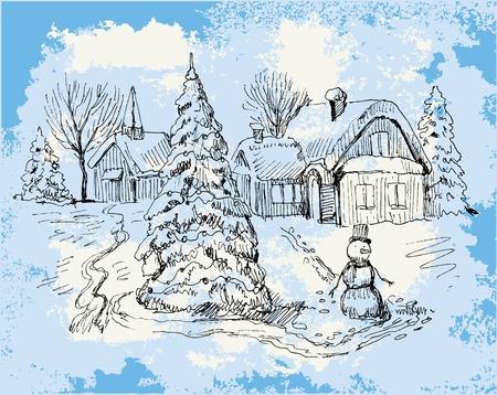 Vintage Christmas Card . Stock Vector - 10888441