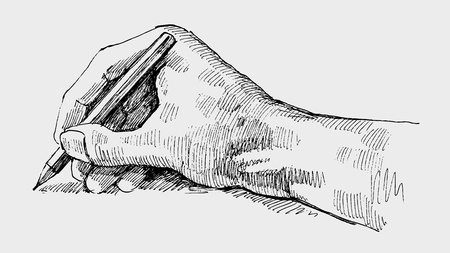 dibujo vintage: Escritura a mano