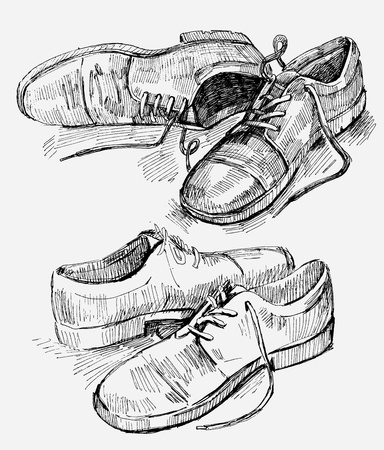Hand Drawn Illustration of shoes Vector