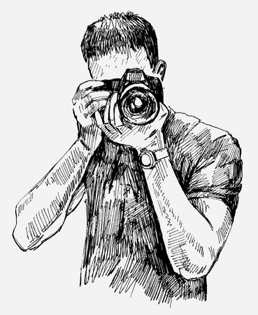 camara: Fot�grafo Vectores