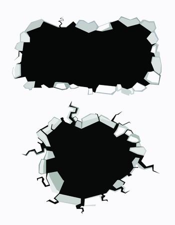 Reeks scheuren Stock Illustratie