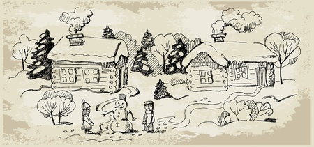 Weinlese-Weihnachtskarte.