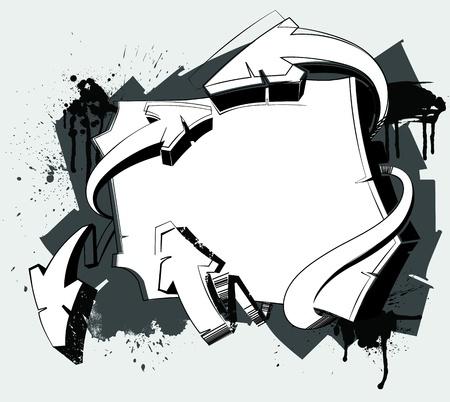 落書き: 抽象的な背景