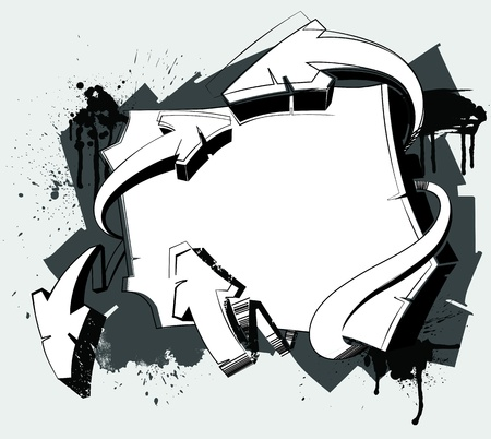 graffiti art: abstract background