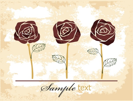 roses background Stock Vector - 11087702