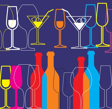 alcohol background Stock Vector - 11087693