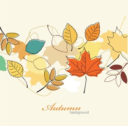 hojas de oto�o cayendo: Hojas de oto�o cayendo