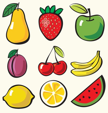 fruit illustration: fruit background