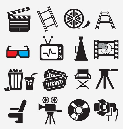 movie film reel: Movie icon set