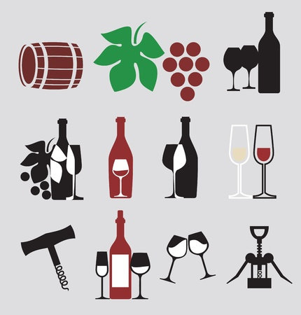 Set of wine Stock Vector - 11274963