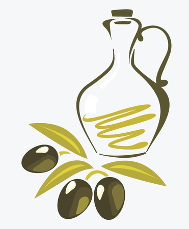 hoja de olivo: rama de olivo Vectores