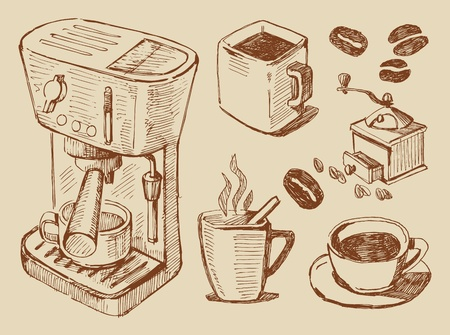 italian culture: coffee background Illustration