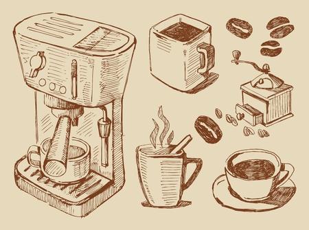 coffee beans: koffie achtergrond
