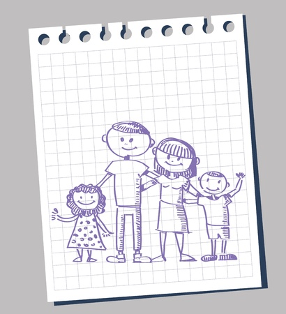 doodle of family