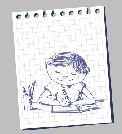 student cartoon: education