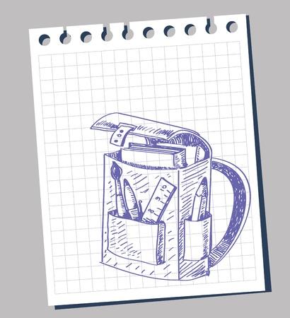mochila escolar: vector de bolsa de la escuela