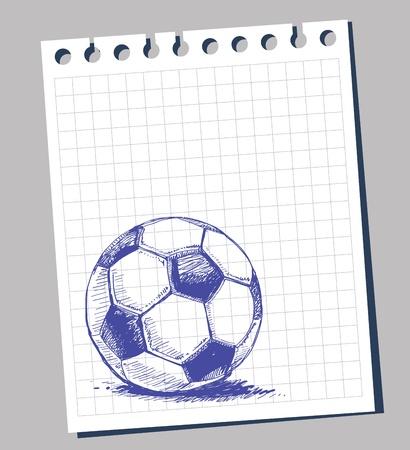 futbol soccer dibujos: A mano alzada el bal�n de f�tbol Vectores