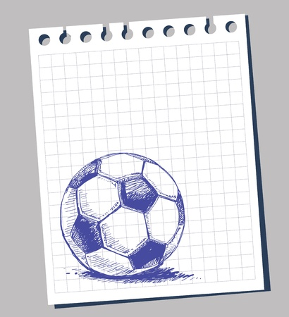 notebook page: Scribble soccer ball