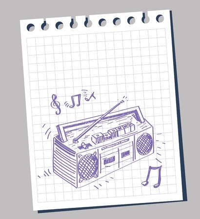 recorder: tape recorder Illustration