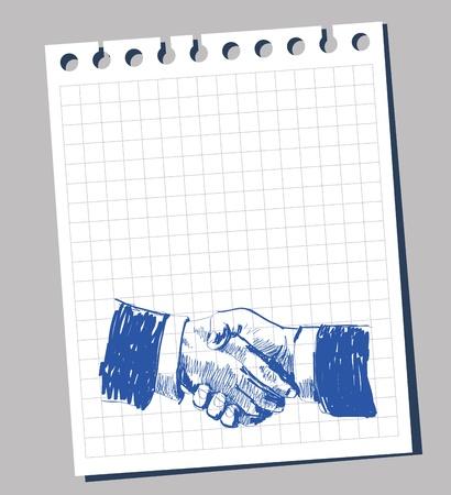 shake hand: Business handshake Illustration