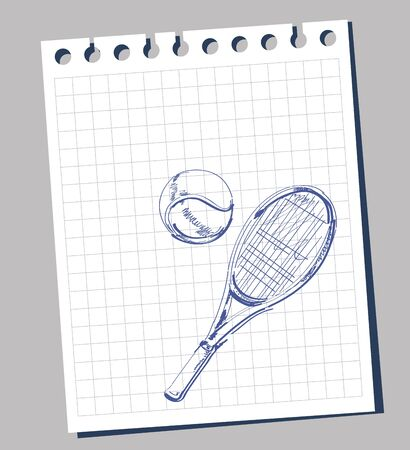 tennis racket: tennis racket Illustration